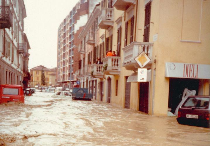 IMMAGINE dell'alluvione ad ALESSANDRIA
